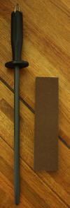 Forschner 12 Inch Sharpening Steel AND Norton Combination Sharpening Stone - Click on the Photo to enlarge