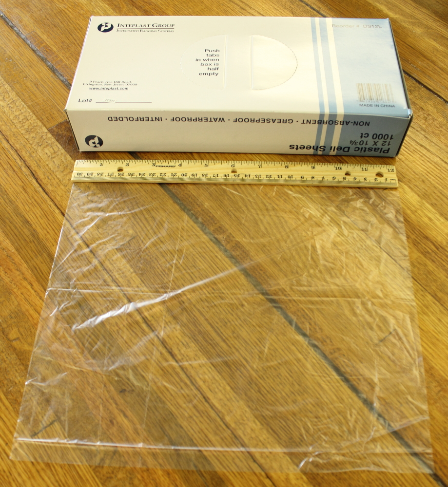 Deli Film Sheet - 12 inches by 10.75 inches