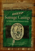 DeWied Homepack Size Natural Sheep Casing - 1 Home Pack Will Stuff 15 lbs. of Meat - Our Sheep Casings come with our 100% Money Back Guarantee