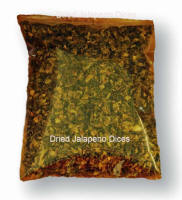 Dried Jalapeno Dices.  Perfect to add to your Deer Sausage for that extra KICK.