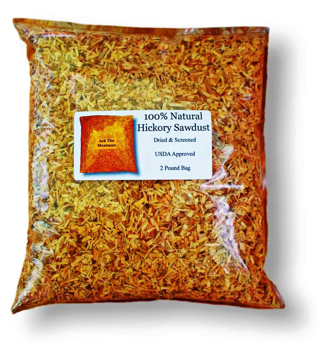 Hickory Sawdust All Natural And Usda Roved For Smoking Meat 2 Lb Bag