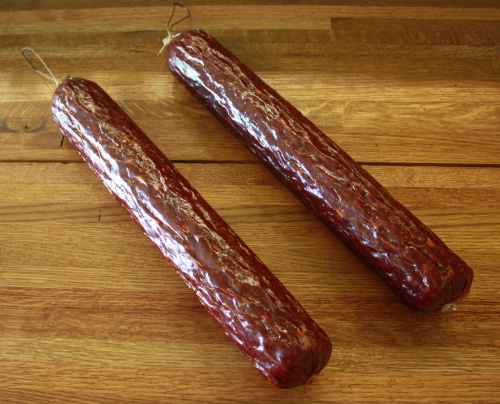 Using our Witts Smoked Deer/Beef Sausage Making Seasoning, this is what your finished product will look like!  Click on the photo to enlarge.